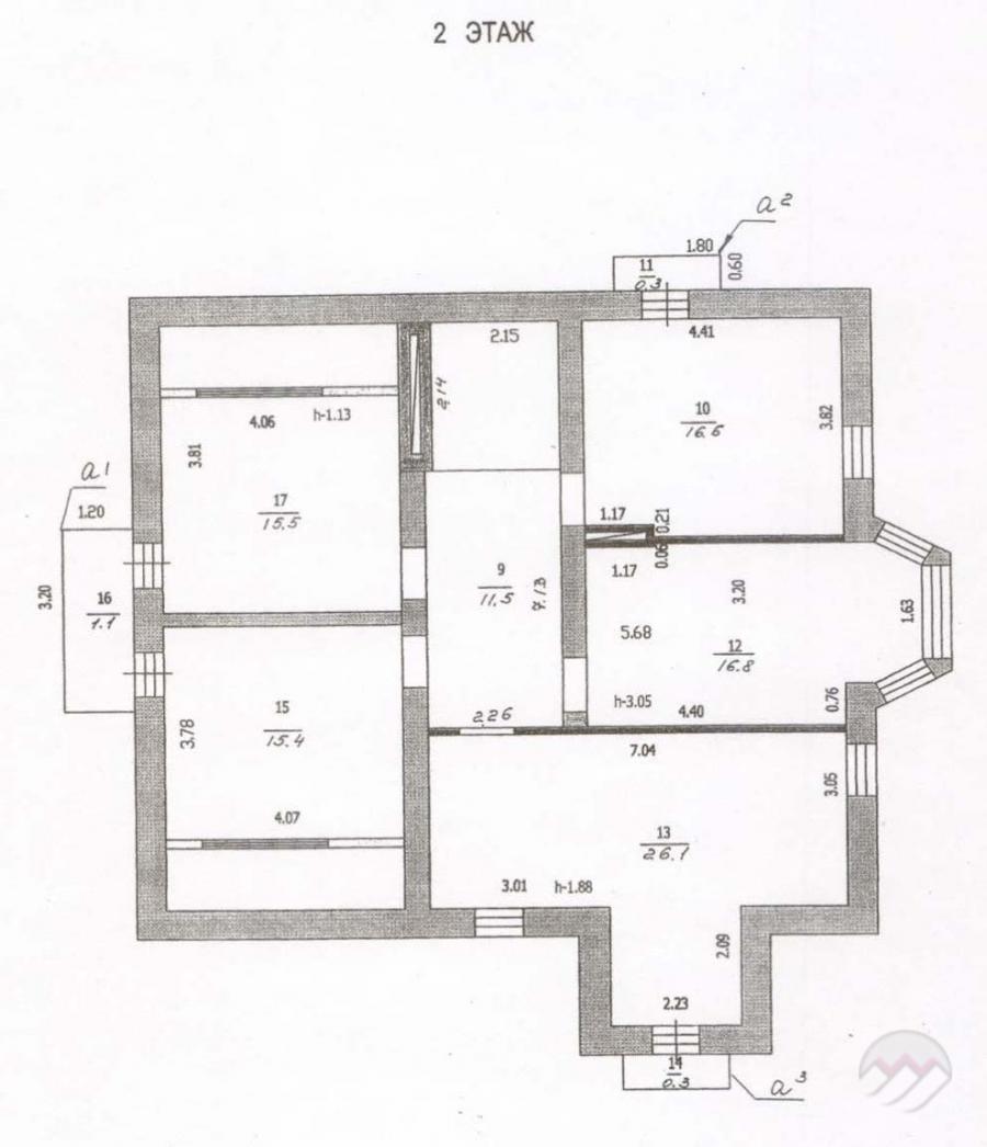 Распечатать Планировка дома в Сенькино-Секерино, 260 кв. м на участке 6 соток.